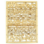 Laser Cut 'What's Mickey without Minnie...' Long Quote Sign