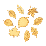 Laser Cut Autumn Leaf Themed Pack of 9 Shapes