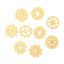 Laser Cut Steampunk Cogs Themed Pack of 9 Shapes