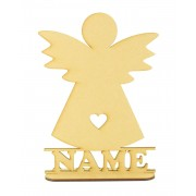 Laser Cut Personalised Angel Shape on a Stand