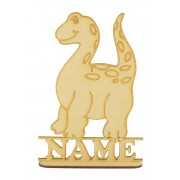 Laser Cut Personalised Dinosaur Shape on a Stand