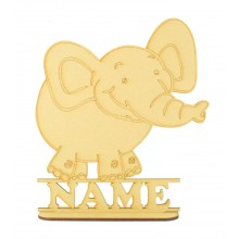 Laser Cut Personalised Elephant Shape on a Stand
