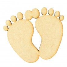 Laser Cut Joined Baby Feet Shape