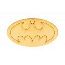 Laser Cut Etched Batman Logo Shape
