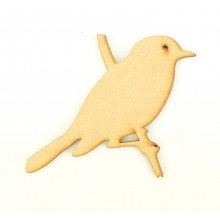 Laser Cut Bird on a Branch Shape