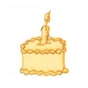 Laser Cut Etched Birthday Cake Shape