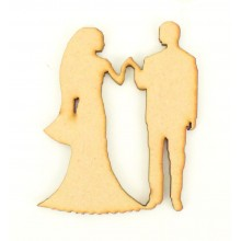 Laser Cut Wedding Couple Walking Down The Isle Shape