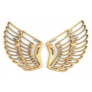 Laser Cut Pair of Angel Wing Shapes with cut out detail