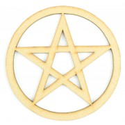 Laser Cut Pentagram Craft Shape