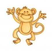 Laser Cut Etched Cheeky Monkey Shape