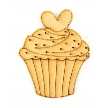 Laser Cut Etched Cupcake Shape