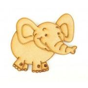 Laser Cut Etched Elephant Shape