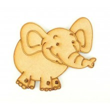 Laser Cut Etched Elephant Shape