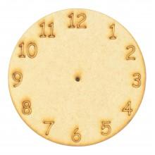 Laser Cut Etched Clock Face Shape