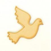 Laser Cut Etched Dove Shape