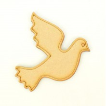 Laser Cut Etched Dove Shape