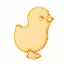 Laser Cut Etched Easter Chick Shape