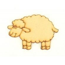 Laser Cut Etched Fluffy Sheep Shape