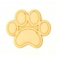 Laser Cut Etched Paw Print