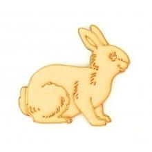 Laser Cut Etched Rabbit Shape