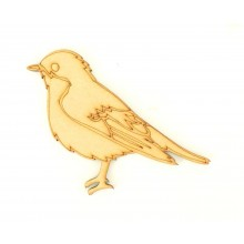 Laser Cut Detailed Traditional Christmas Robin Shape