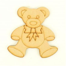 Laser cut Etched Cute Teddy Bear Shape
