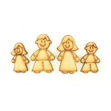 Laser cut Cute Family Shapes - Mum, Dad, Girl, Boy Shape