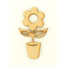 Laser Cut Flower in Pot Shape