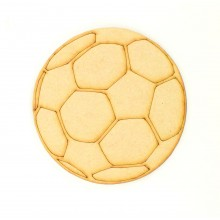 Laser Cut Etched Football Shape