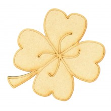 Laser Cut Lucky 4 Leaf Clover Shape
