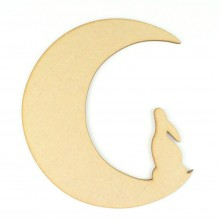 Laser Cut Moon with Hare Shape