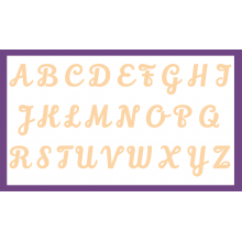 Lily Script Font Laser Letters - 3mm Thickness - Select Size of your choice.