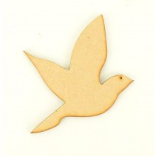 Laser Cut Plain Love Bird Shape