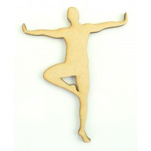 Laser Cut Male Ballet Dancer Shape