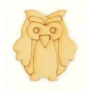 Laser Cut Etched Owl Shape
