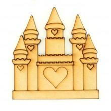 Laser Cut Etched Princess Castle Shape