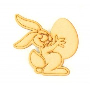 Laser Cut Etched Rabbit With Easter Egg Shape