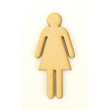 Laser Cut Simple Lady Shape
