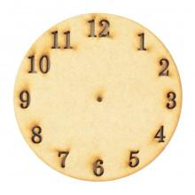 Laser Cut Clock Face Shape - Stencil Cut