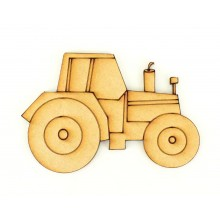 Laser Cut Etched Tractor Shape