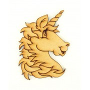 Laser Cut Etched Unicorn Head Shape