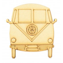 Laser Cut VW Camper Van Shape - Front View
