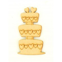 Laser Cut Etched Wedding Cake Shape