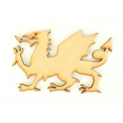 Laser Cut Welsh Dragon Shape