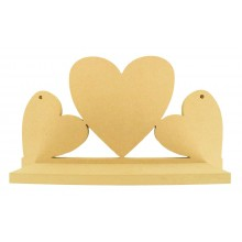 Routered 18mm MDF Quality Flat packed Joined Hearts Shelf