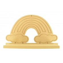 Routered 18mm MDF Quality Flat packed Detailed Rainbow Shelf