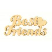 Laser Cut 'Best Friends' Sign with Plain Heart