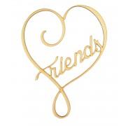 Laser Cut 'Friends' Heart Design