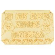 Laser Cut 'Do Not Enter, Zombie Outbreak' Etched Plaque Sign