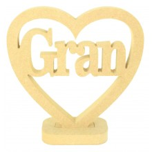18mm MDF Small Gran Heart on a stand